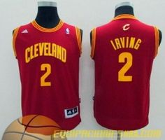 Camisetas nba niño Cleveland Cavaliers IRVING #2 rojo nueva pano €19.99