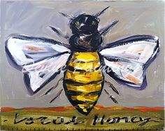 'Local Honey' by American painter M. Devine. Acrylic on canvas. via…