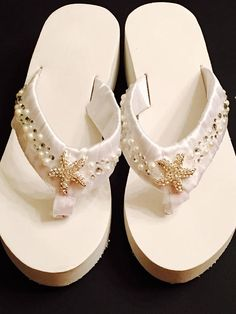 06f56160064302 Items similar to Beach Wedding Shoes Bridal Flip Flops  Wedges Wedding  Shoes Wedding Flip Flops Reception Flip Flops.Bridesmaids Shoes Sandals on  Etsy