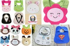 Carters Animal Feeding bibs Cupcake, strawberry, tiger, monkey, flower, frog etc #Carters