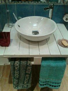 Lavabo con palet