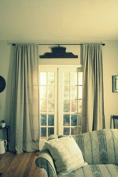 New sliding patio door makeover decor ideas Patio Door Curtains, French Door Curtains, French Doors Patio, Sliding Patio Doors, Sliding Glass Door, Glass Doors, Tall Curtains, French Patio, Slider Curtains