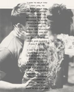 vows- love this