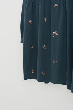 Frill Detail Lilac Embroidery Dress, Teal