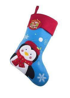 Kids Cute Cartoon Penguins Large Christmas Stocking Zazzle Com