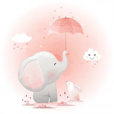 More than 3 millions free vectors, PSD, photos and free icons. Exclusive freebie… More than 3 millions free vectors, PSD, photos and free icons. Exclusive freebies and all graphic resources that you need for your projects Elephant Art, Elephant Nursery, Cute Elephant, Nursery Art, Umbrella Cartoon, Cute Umbrellas, Baby Art, Watercolor Animals, Cute Illustration
