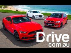Ford Mustang GT v Holden Commodore SS-V v Chrysler 300 SRT comparison   ...