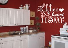 Kitchen is the heart of the home vinyl wall by GrabersGraphics, $32.00