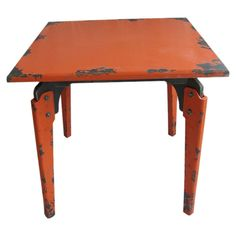 Industrial dining table.