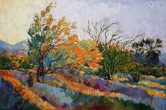 Purchase canvas prints from Erin Hanson. All Erin Hanson canvas prints are ready to ship within 3 - 4 business days and include a money-back guarantee. Erin Hanson, Landscape Art, Landscape Paintings, Desert Landscape, Modern Impressionism, Painting Edges, Painting Canvas, Stretched Canvas Prints, Garden Art