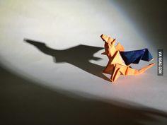Origami Charizard. - 9GAG