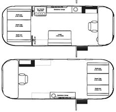 The Vintage Airstream Flying Cloud 20 Foot Travel Trailer Floor Plan