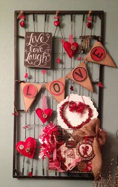 Shabby Chic Valentines Day Decor - Baby Bed Spring