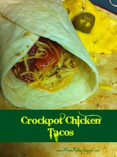 At Home My Way: Crockpot Chicken Tacos