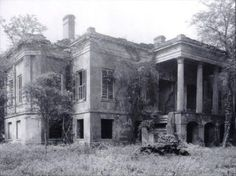 georgiangentility: The Hermitage. The house remained unoccupied since it was sacked by Sherman's soldiers during the Civil War. It was demolished in the 1930s.