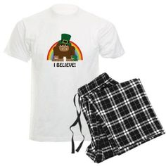I Believe! Leprechaun Bigfoot Pajamas on CafePress.com