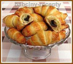 Croissanty s čokoládou | Babčiny recepty