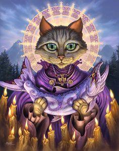 oil paintings of catholic saints | Art of Jeff Haynie: New cat paintings