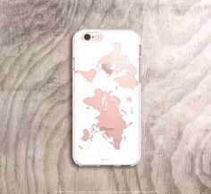 World map iPhone case in white on rose gold iPhone 6s case Etsy listing at https://www.etsy.com/uk/listing/268065879/world-map-iphone-6s-case-marble-iphone #IphoneCaseCovers