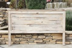 Farmhouse King Headboard White Distressed By by FooFooLaLaChild, $375.00