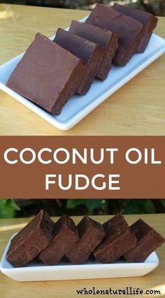 Coconut oil fudge   Clean eating fudge   Healthy fudge   Paleo fudge For aip, use carob powder.