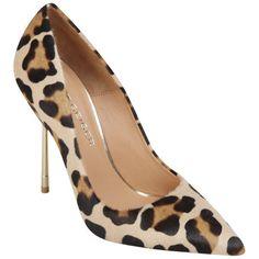Kurt Geiger Women's Britton Leopard Print Stiletto Heeled Shoes found on Polyvore