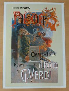 Opera Poster Kunstdruck Art Print * Giuseppe Verdi Commedia Lirica * 70 x 50 cm