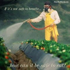 If it's not safe to breath. It's not safe to eat.
