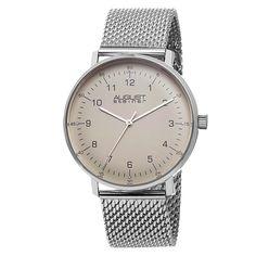 August Steiner Men's Swiss Quartz Mesh Bracelet Watch
