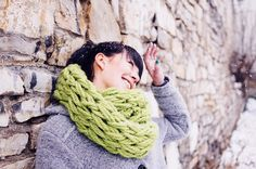 Arm Knitted Scarf | 19 Insanely Easy DIY Projects That Are Perfect For Beginners