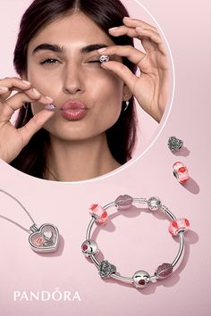 Be playful with your style with the kiss-inspired looks in PANDORA's New Valentine's Day Collection.