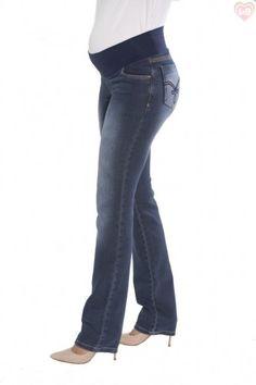 Calça Gestante Reta Jeans