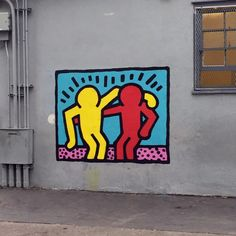 Outdoor Haring Buddy Mural