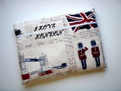 13 inch Laptop Sleeve Pocket London Handmade Babimini by Babimini, €27.00