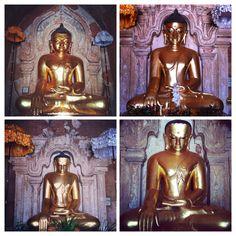 Los cuatro #Budas de la #pagoda Hti-lo-min-lo, una de las que hay que visitar en #Bagan. #Myanmar #myanmartrip