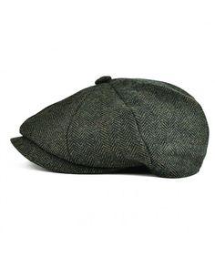 41b573dade7 VOBOOMClassic 8 Panel Wool Tweed newsboy Gatsby IVY Cap Golf Cabbie Driving  Hat Dark Green CP17AA5DCCW