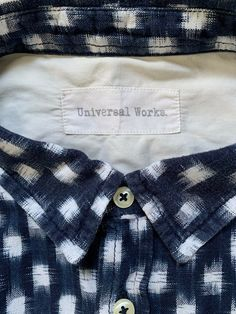 Universal Works classic style shirt size Large blue and white pattern P2P 21 in #universalworks #universalworksshirts #universalworksclothing #universalworksclothes #reclaimedclothing #qualityshirts #mensfashion #slowfashion #clothing #clothingbrands    Visit our ebay page and see all our reclaimed men's clothes.