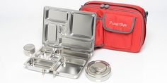 PlanetBox Rover: Comes with a carrying bag available in a variety of colors. #Lunch_Box #Bento_Box