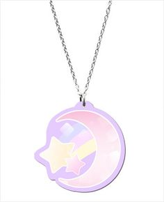Candy Crescent Moon Necklace