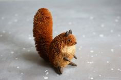 Bristle Squirrel from Susantique At Home With Vintage on Etsy