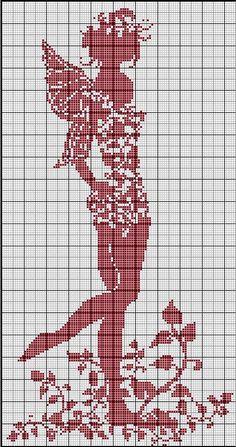 Points de croix *@* Monochrome free chart