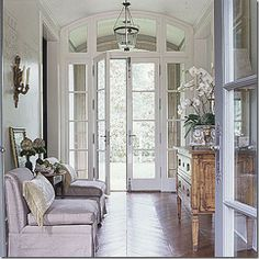 Beautiful  entry space. Floors, doors, walls.  From: things that inspire via Southern Accents