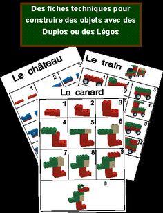 Bouwkaarten voor lego, free printable / Jeux à imprimer et à fabriquer                                                                                                                                                      Plus