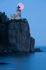 Split Rock Lighthouse located southwest of Silver Bay, Minnesota, USA on the North Shore of Lake Superior.  Opened in 1909.