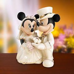 Minnie's Dream Wedding Disney Wedding Cake Topper Figurine - Lenox