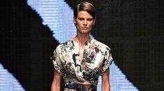 The Donna Karan Spring 2015 ready-to-wear runway show.