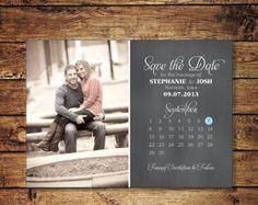 Modern sparen Datum Postkarte Save-the-Date Karte Foto