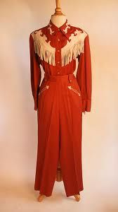 vintage rayon western suit