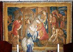 Iso ja kuuluisa maalaus nyt gobeliinina.1500- luvun maalauksesta tehty gobeliini Nativity, Jeesuksen syntymä. Alkuperäisen maalauksen maalasi Italialainen maalari 1500 - luvulla Vatikaaniin. Maalaus tunnetaan ympäri maailman ja on yksi kuuluisimmista