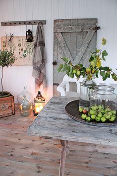 apples, lantern, botanical print, jugs, topiary